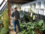 Cathy in Greenhouse 11/2014